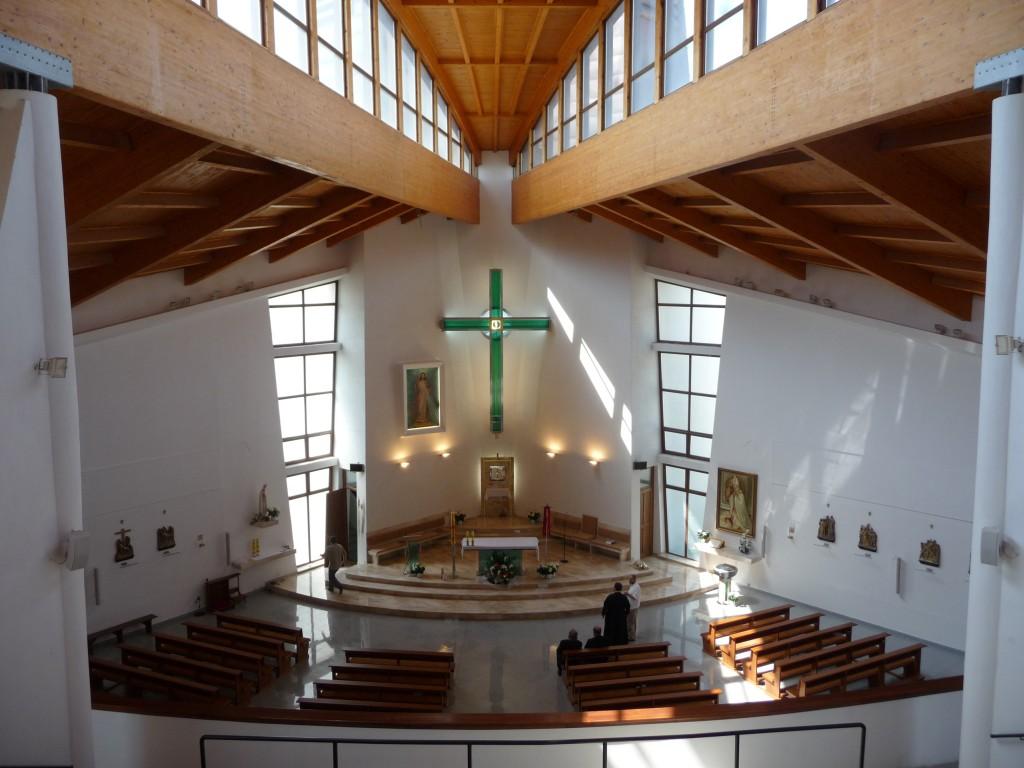 Svatyna Bozieho milosrdenstva - interier